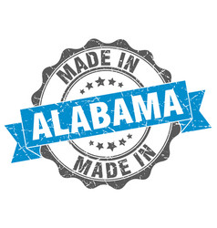 Made in alabama round seal vector