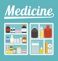 Medicine cupboard vector
