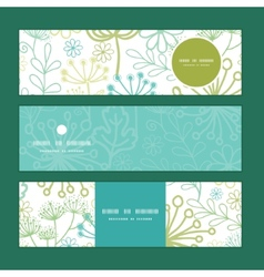 mysterious green garden horizontal banners vector image