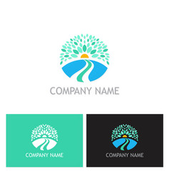 nature landscape ecology logo vector image