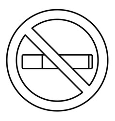 no smoking icon outline style vector image