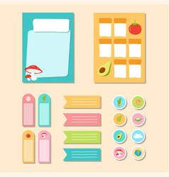 Paper sticker and memo note design vector