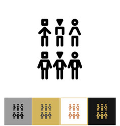 people icons human persons or customer symbols vector image