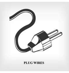 power plug wire vector image
