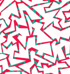 red graffiti seamless pattern vector image