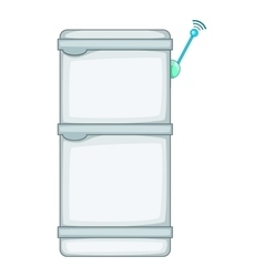 Refrigerator with wi fi connection icon vector