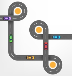 Road Infographic Background with Cars vector image