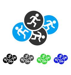 Running men flat icon vector