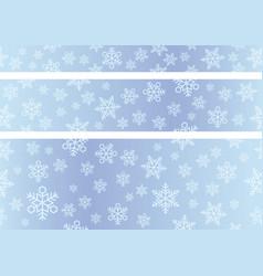 seamless snow background set vector image