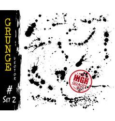 set grunge style blood or ink splatter vector image