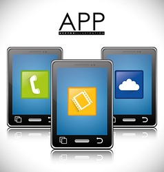 Smartphone applications design vector image