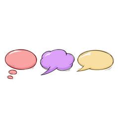 speech bubbles colored doodles set vector image