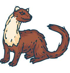 Standing weasel or marten vector