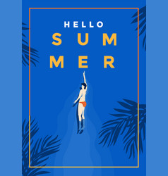 summer background flat design summer time 4 vector image