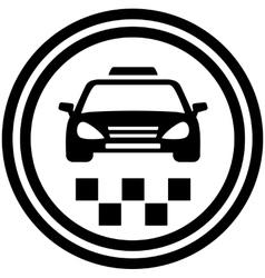 taxi round icon vector image