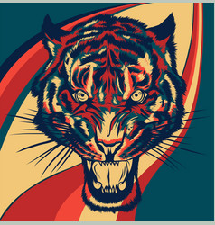Tiger face a tiger head vector