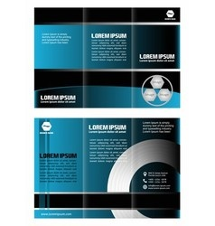 Tri fold wave brochure vector