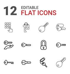 unlock icons vector image