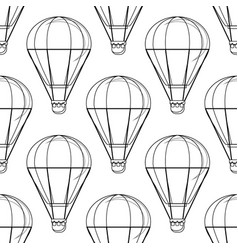 vintage balloon image on a white background vector image