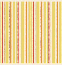 yellow orange watercolor grunge striped seamless vector image