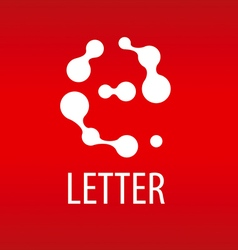 Abstract logo the letter e in the form of drops vector