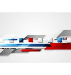 Shiny hi-tech red and blue background vector image vector image