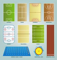 Sport field set vector image