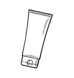 blank unlabelled tube of sun protection vector image