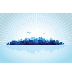 blue cityscape vector image vector image