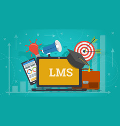 business banner - learning management system vector image vector image