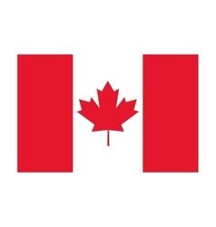canada flag icon vector image