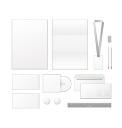 Corporate identity template design Business set vector image