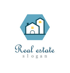 polygon real estate logo vector image