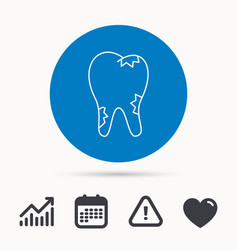 caries icon tooth health sign vector image