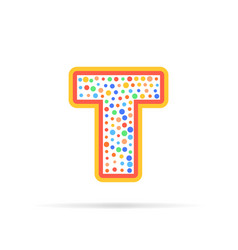dots and letter t logo with circles and dots vector image