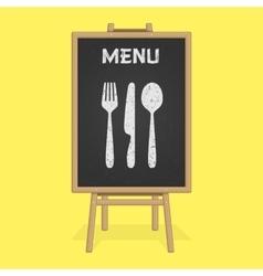 Menu board with cutlery vector image
