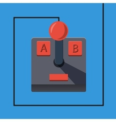 Retro gamepad in flat style vector image vector image