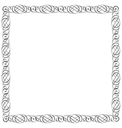 Simple calligraphic frame for design vector image vector image