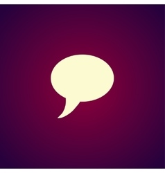 Chat Flat Icon vector image