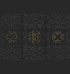 collection of black backgrounds and golden vector image
