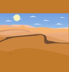 desert image flat design vector image