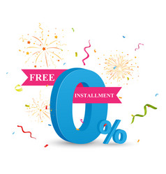 free installment sale concept vector image
