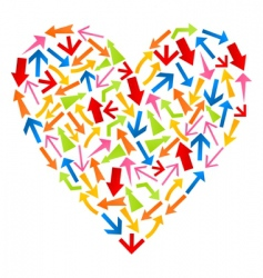 heart from arrows vector image vector image