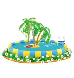 outdoor pool vector image