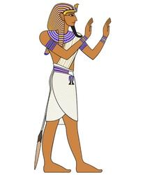 Pharaoh egyptian ancient symbol vector image vector image