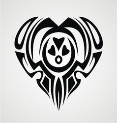Tribal Heart Tattoo vector image
