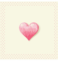 Valentine sketch heart invitation postcard vector image