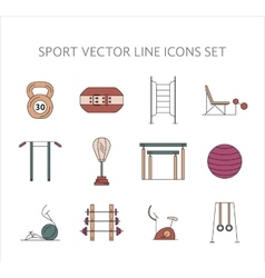 Workout and gym training icons set vector image