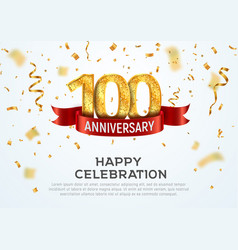 100 years anniversary banner template vector