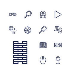 13 reflection icons vector
